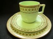 William Brownfield celadon tea trio